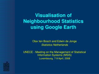 Visualisation of Neighbourhood Statistics using Google Earth