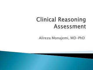 Clinical Reasoning Assessment