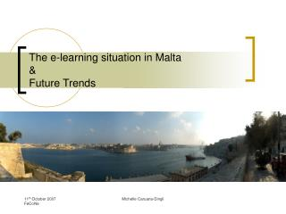 The e-learning situation in Malta  Future Trends