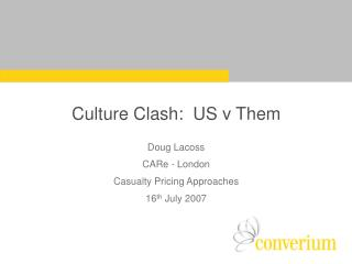 Culture Clash:  US v Them