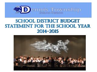 School District Budget Statement for the School Year 2014-2015