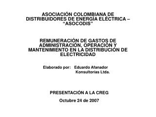 Elaborado por:  Eduardo Afanador    Konsultor�as Ltda.