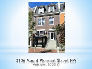 3106 Mount Pleasant Street NW Washington, DC 20010