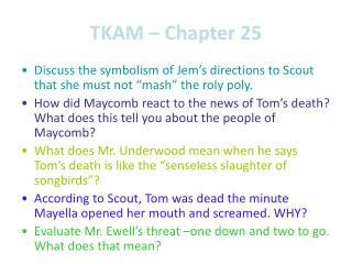 TKAM – Chapter 25