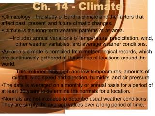 Ch. 14 - Climate