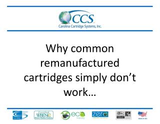 Why common remanufactured cartridges simply don't work…