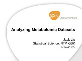 Analyzing  Metabolomic  Datasets