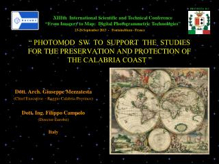 � PHOTOMOD  SW  TO  SUPPORT  THE  STUDIES  FOR THE PRESERVATION AND PROTECTION OF