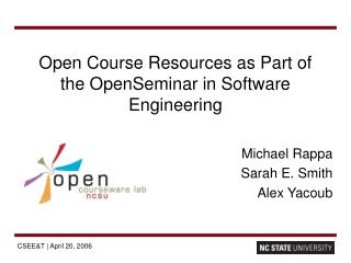 Open Course Resources as Part of the OpenSeminar in Software Engineering