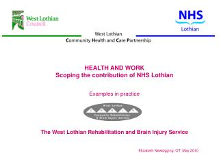 HEALTH AND WORK Scoping the contribution of NHS Lothian Examples in practice
