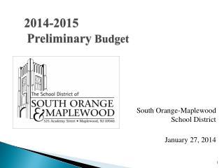 2014-2015 Preliminary  Budget