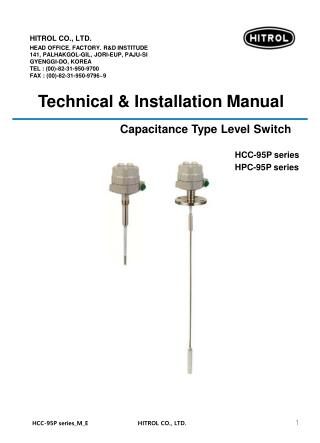 Capacitance Type Level Switch