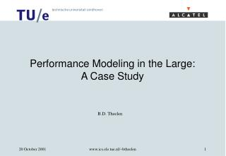 Performance Modeling in the Large: A Case Study
