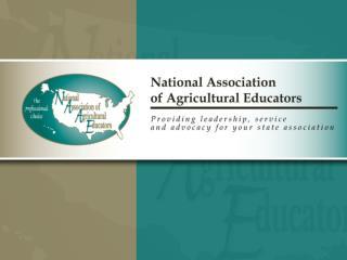 NAAE Membership Procedures for the 2012-2013 Membership Year