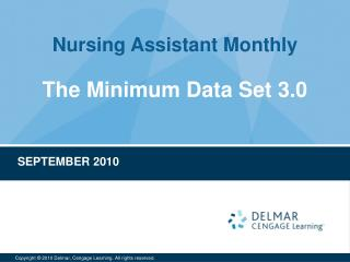 The Minimum Data Set 3.0
