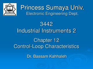 3442 Industrial Instruments 2 Chapter 12 Control-Loop Characteristics