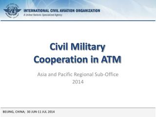 Civil Military  Cooperation in ATM