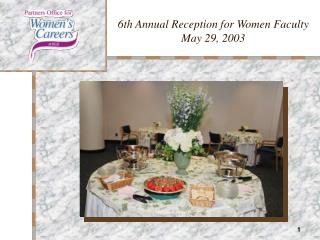 6th Annual Reception for Women Faculty May 29, 2003