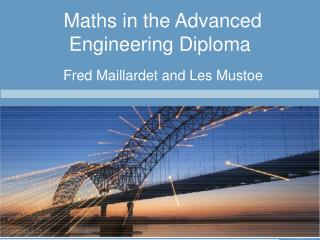 Maths in the Advanced Engineering Diploma