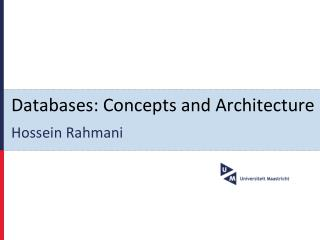 Databases: Concepts and Architecture