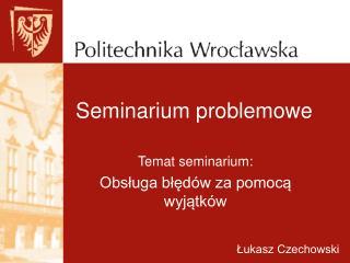 Seminarium problemowe