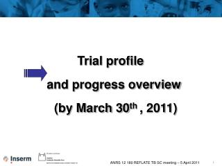 Trial profile  and progress overview (by March 30 th  , 2011)