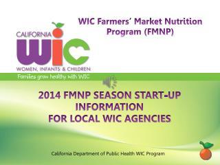 California Department of Public Health WIC Program