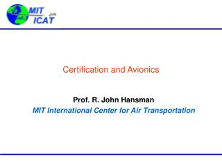 Certification and Avionics