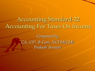 Accounting Standard-22 Accounting For Taxes On Income