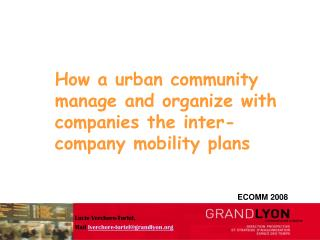 How a urban community manage and organize with companies the inter-company mobility plans