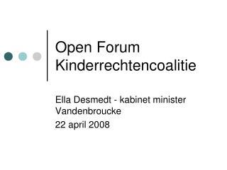 Open Forum Kinderrechtencoalitie
