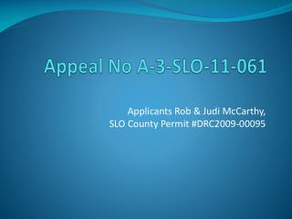 Appeal  No A-3-SLO-11-061