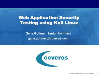 Web Application Security Testing using Kali Linux