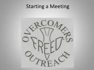 Starting a Meeting