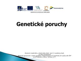 Genetické poruchy