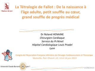 Dr Roland HENAINE Chirurgien Cardiaque Service du  Pr.Ninet H�pital Cardiologique Louis Pradel
