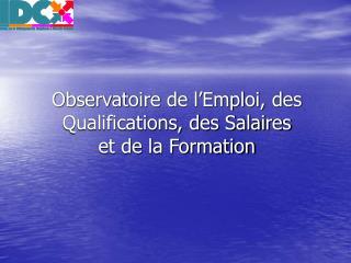 Observatoire de l Emploi, des Qualifications, des Salaires  et de la Formation