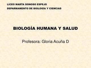 BIOLOGÍA HUMANA Y SALUD