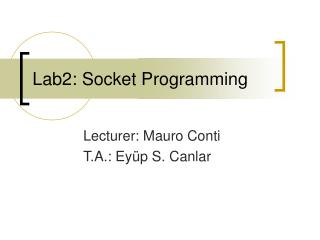 Lab2: Socket Programming