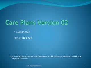 Care Plans Version 02