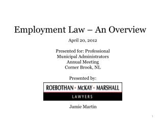 Employment Law – An Overview