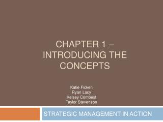 Chapter 1   Introducing the concepts