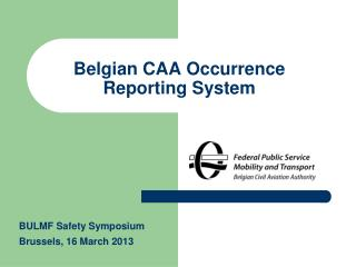 Belgian CAA Occurrence Reporting System