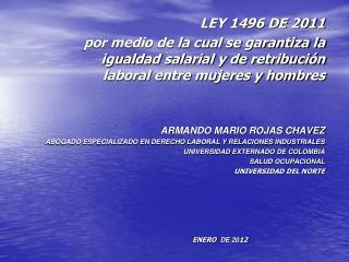 LEY 1496 DE 2011