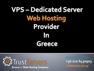 VPS – Dedicated Server Web Hosting Provider In Greece