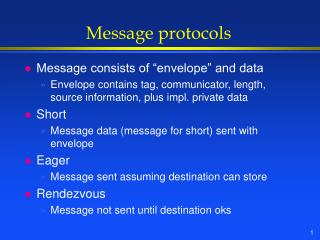 Message protocols