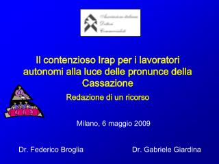 Milano, 6 maggio 2009