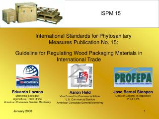 International Standards for Phytosanitary Measures Publication No. 15: