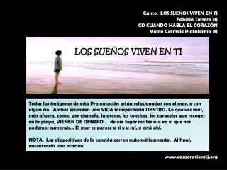 Canto:  LOS SUE�OS VIVEN EN TI Fabiola Torrero stj CD  CUANDO HABLA EL CORAZ�N