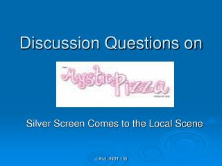 Discussion Questions on